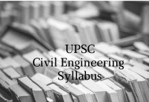 Civil Engineering Syllabus for Main Examination