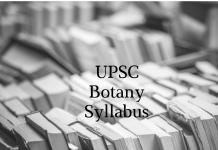 UPSC Botany Mains Syllabus | UPSC books for Botany optional
