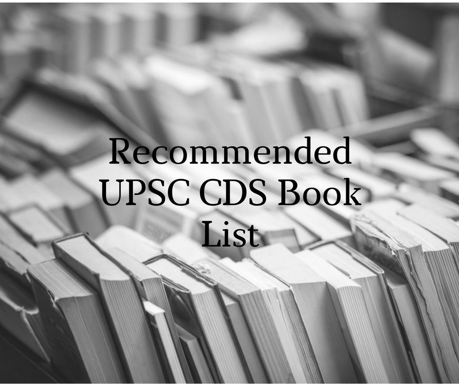 Recommended book list for UPSC CDS by Toppers